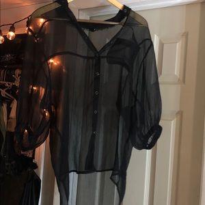 Affliction Sheer half sleeve shirt